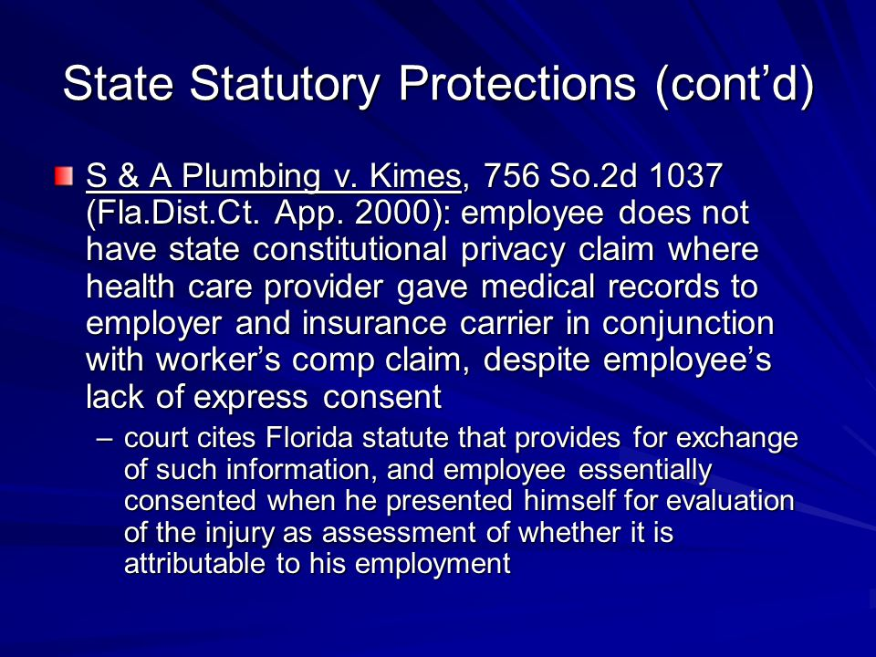 State Statutory Protections (cont'd) S & A Plumbing v.