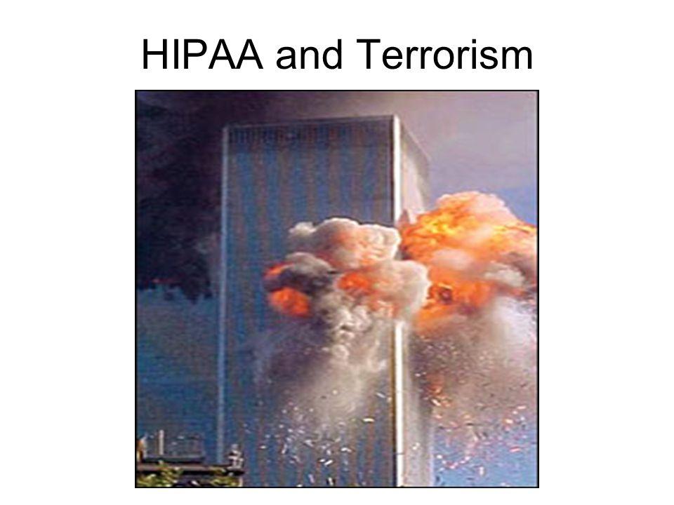 HIPAA and Terrorism