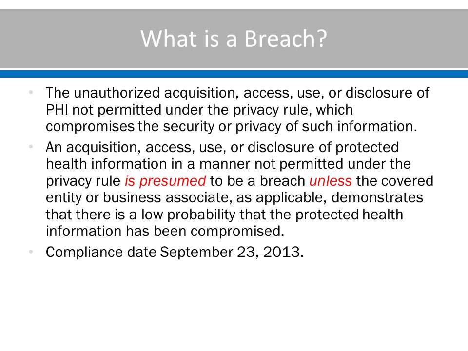 What is a Breach.
