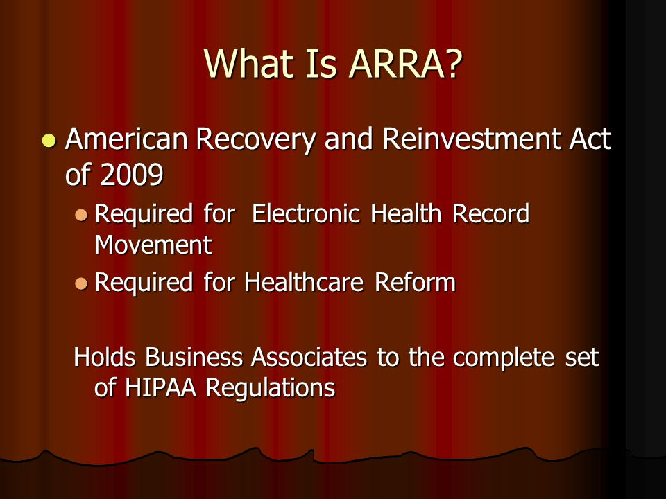 What Is ARRA.