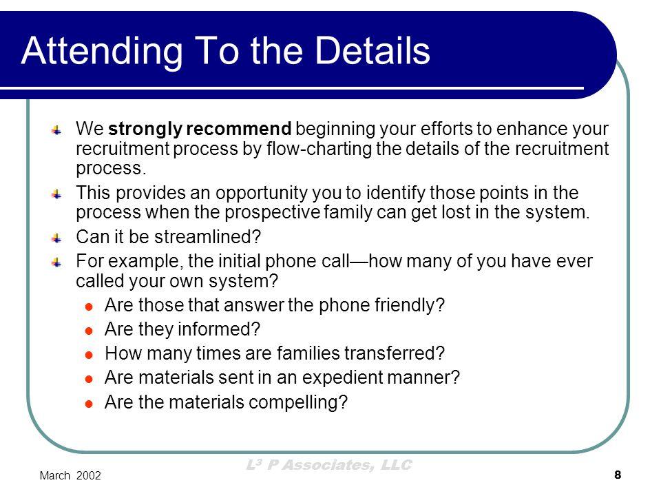 L 3 P Associates, LLC March 20029 Flow Chart Your Processes