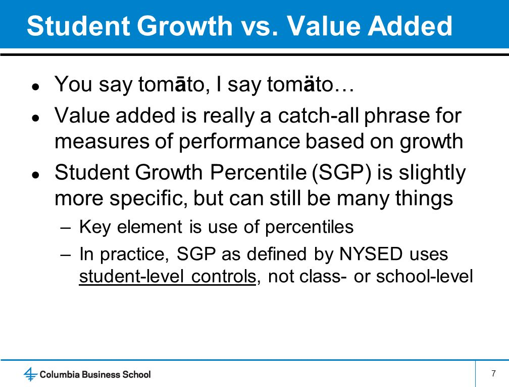 Student Growth vs.