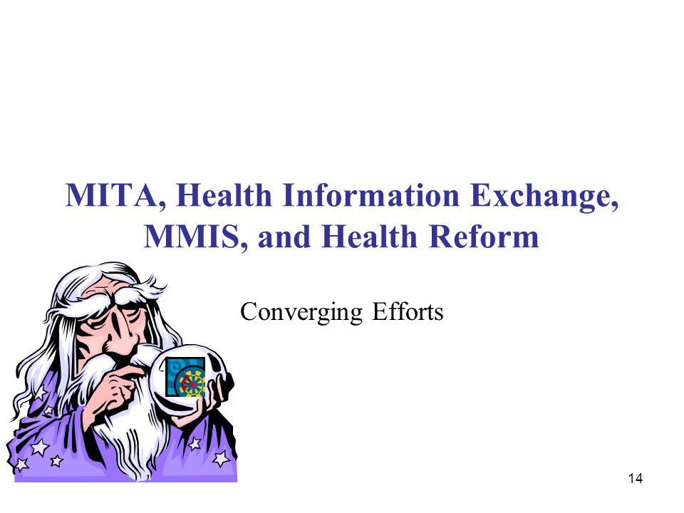 14 MITA, Health Information Exchange, MMIS, and Health Reform Converging Efforts