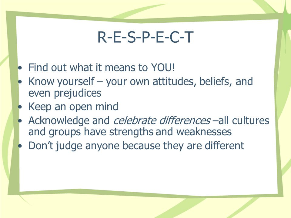 No Two People are Created Alike What are some of the key cultural differences.