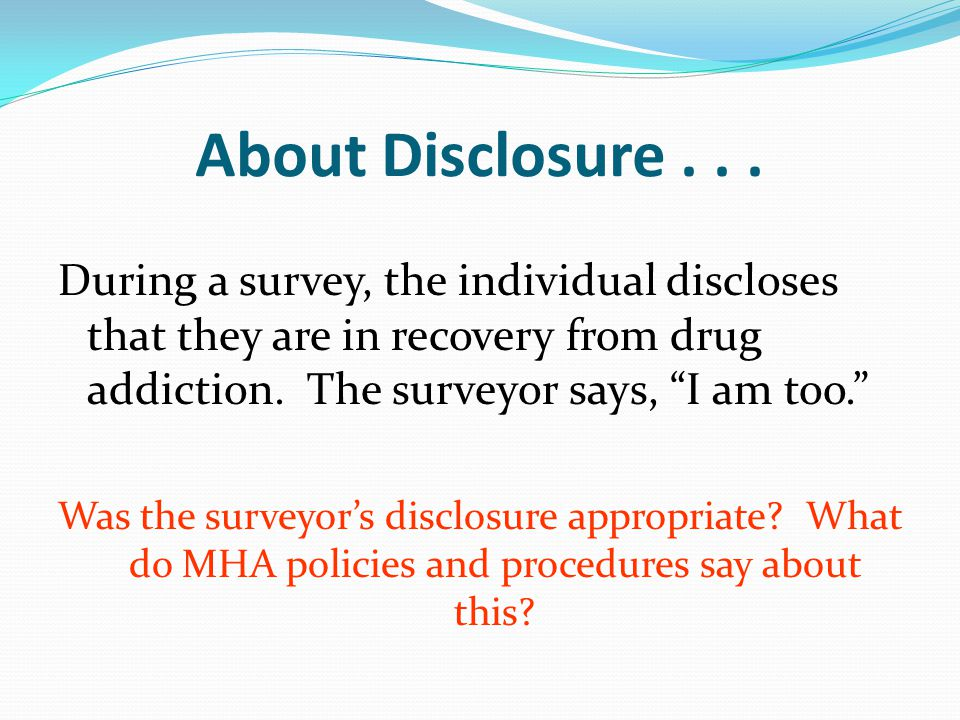 About Disclosure...