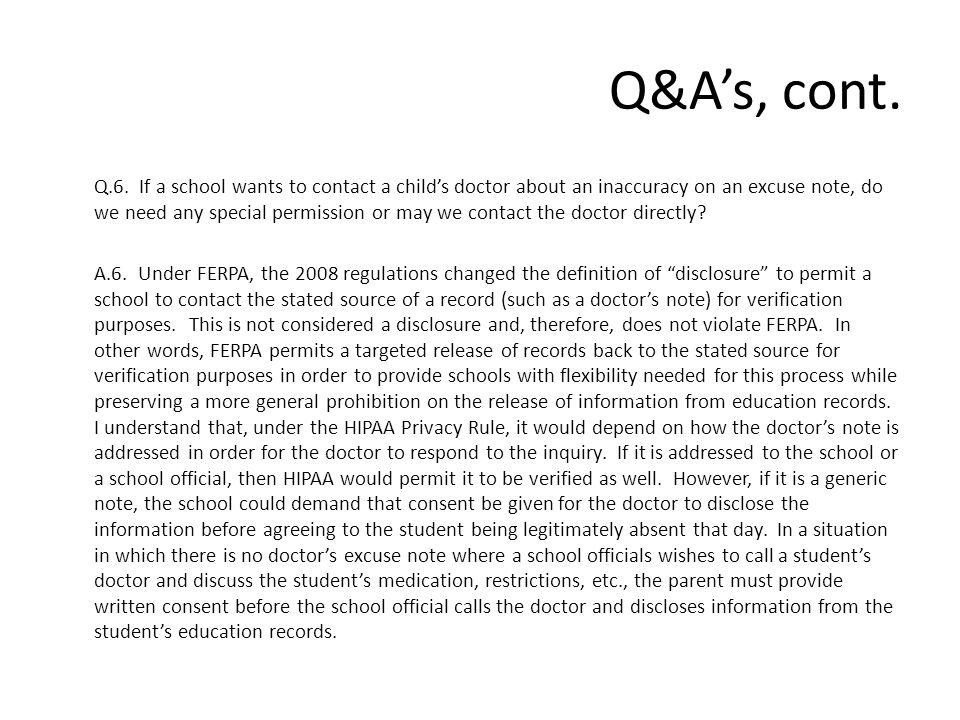 Q&A's, cont. Q.6.
