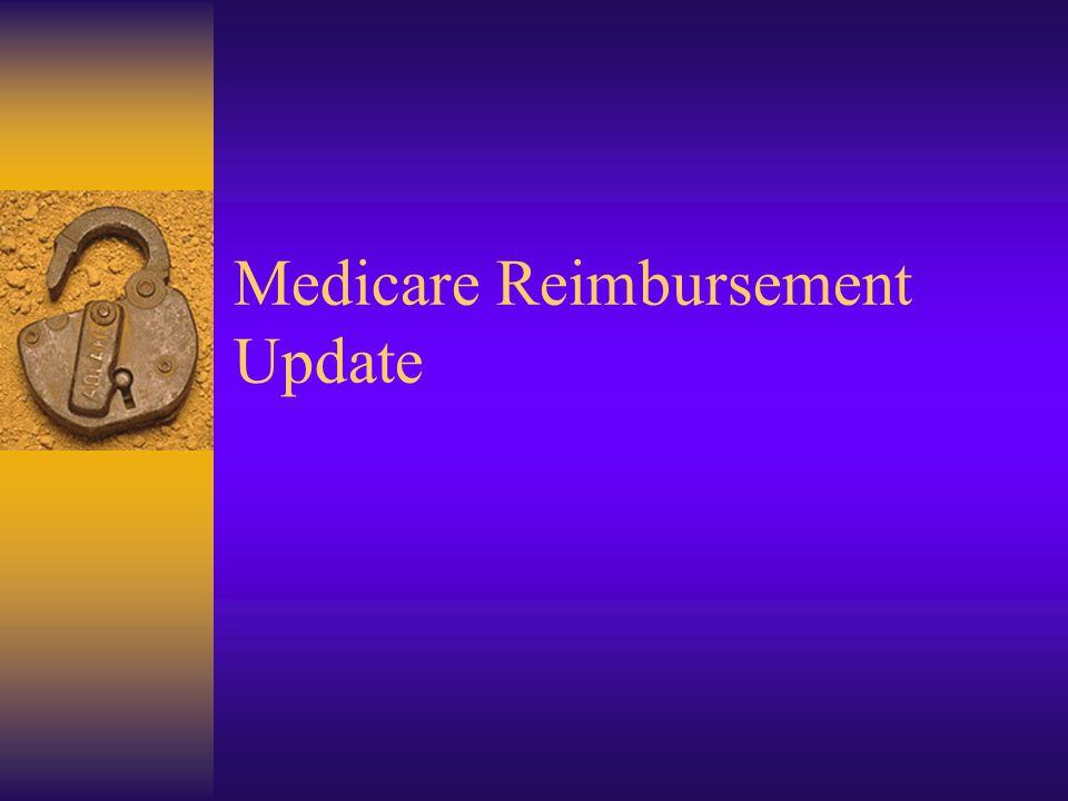 Medicare Reimbursement Update