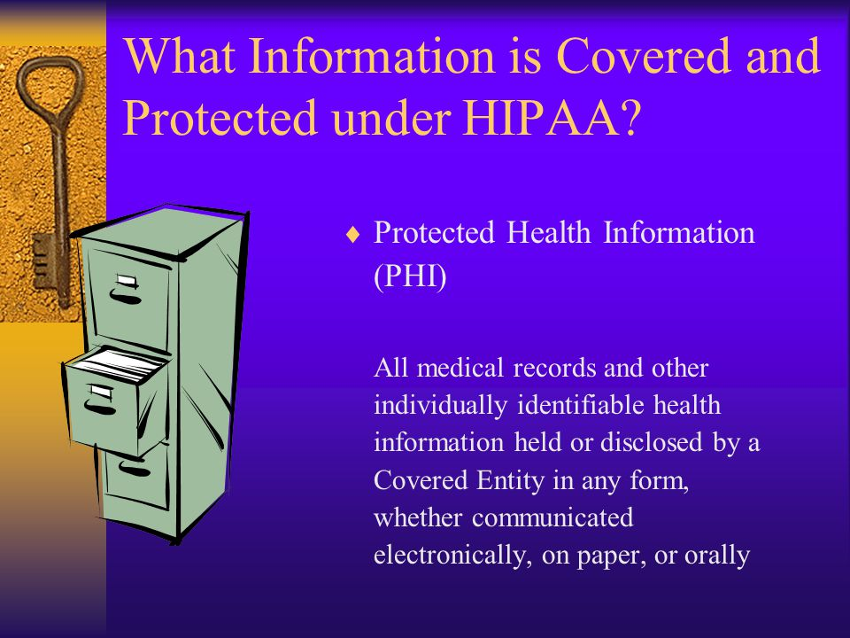 What Information is Covered and Protected under HIPAA.