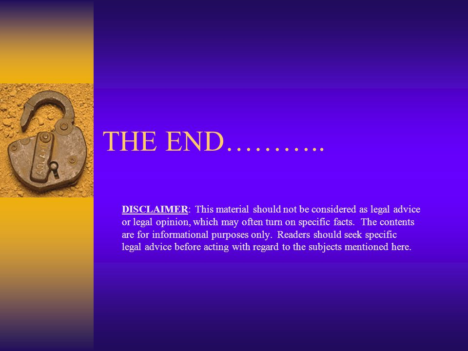 THE END………..