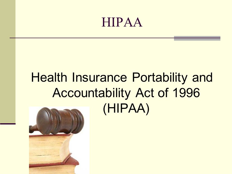 Health Insurance Portability and Accountability Act of 1996 (HIPAA), The HIPAA Privacy Rule provides federal protections for personal health information (PHI) and gives patients an array of rights with respect to that information.