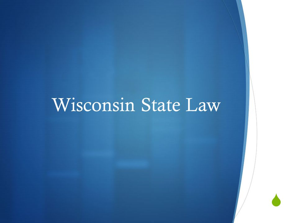  Wisconsin State Law