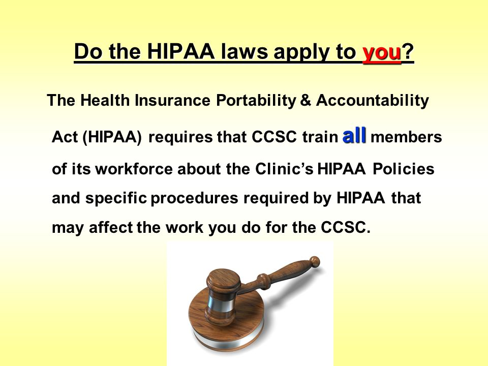 What are the HIPAA requirements.
