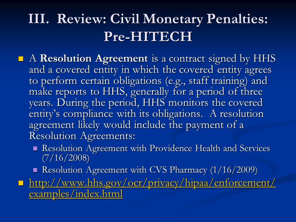 IV.Review: Criminal Statute: Pre-HITECH Violations of 42 U.S.C.