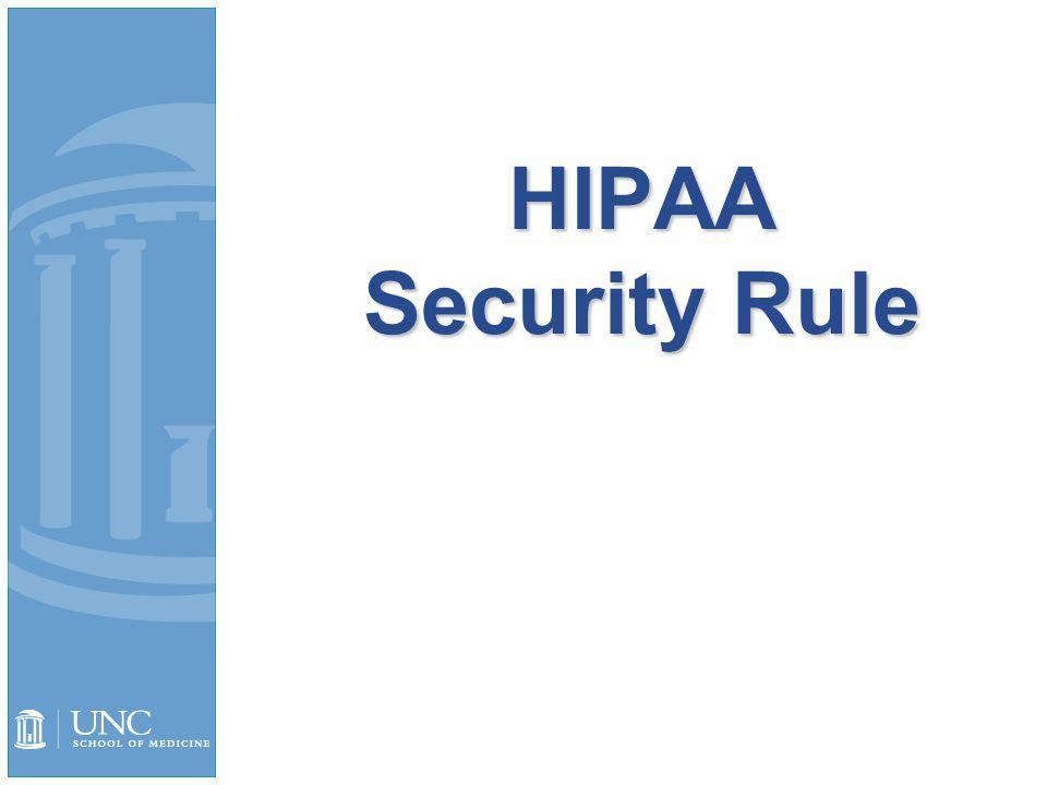 HIPAA Security Rule