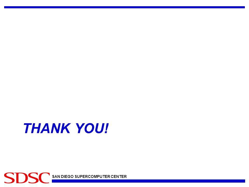 SAN DIEGO SUPERCOMPUTER CENTER THANK YOU!