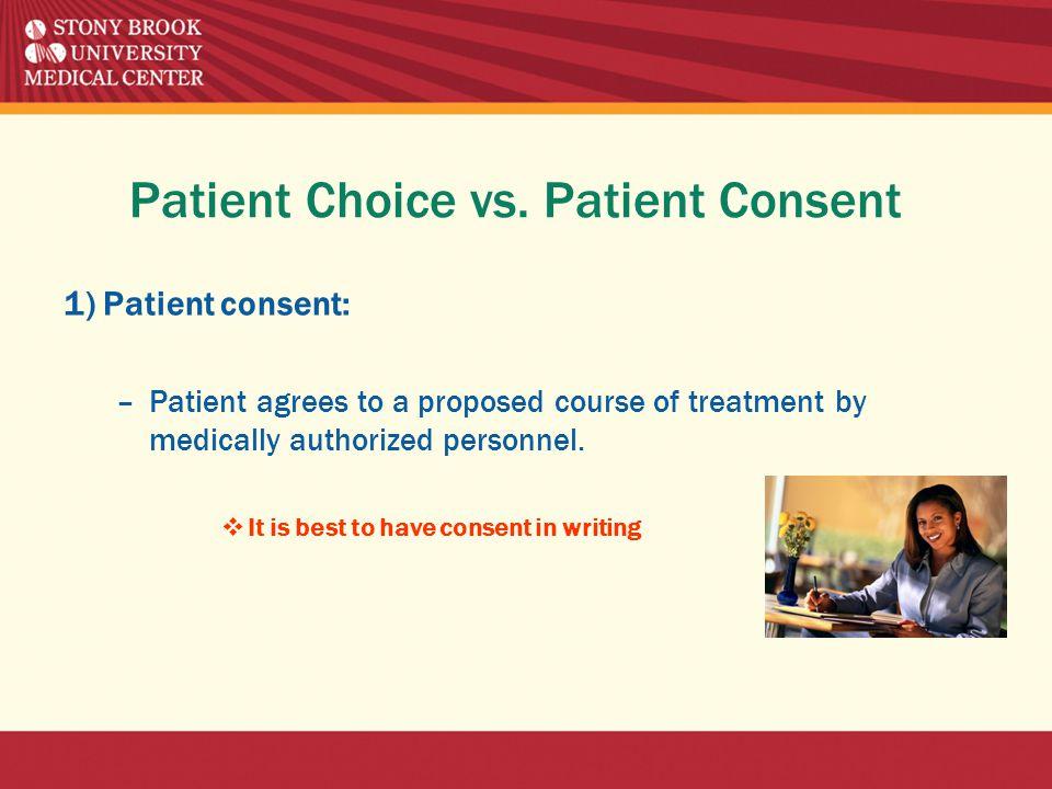 Patient Choice vs.