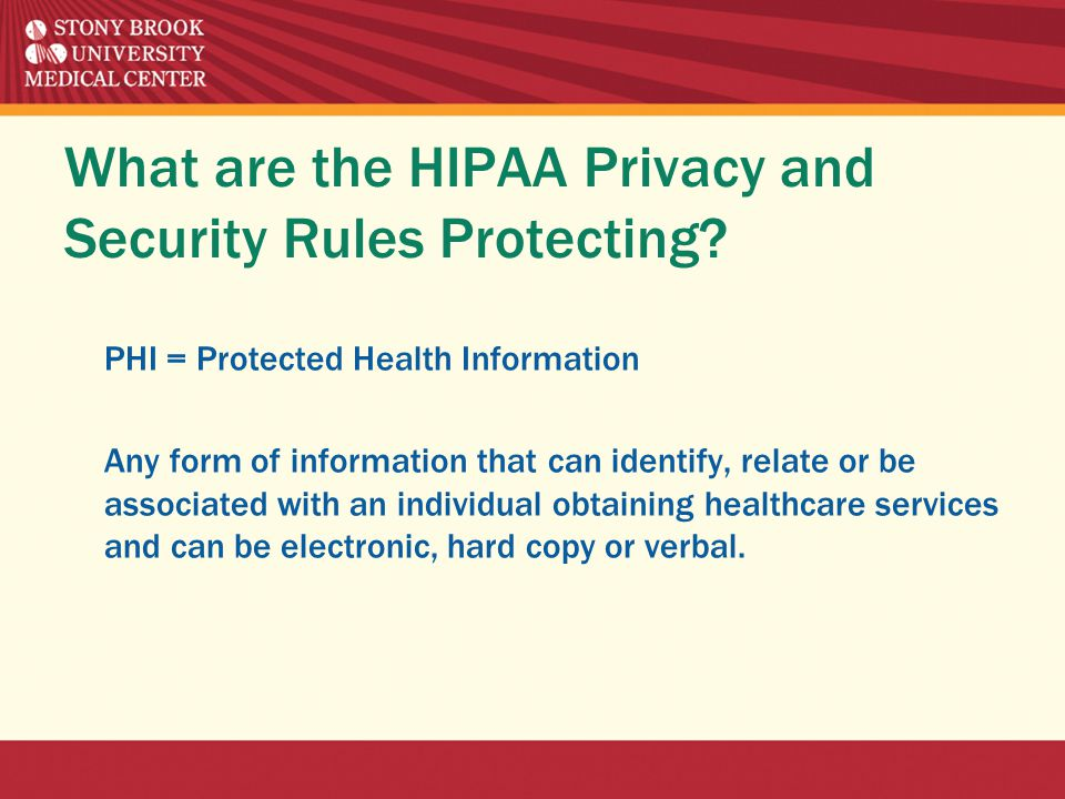 What are the HIPAA Privacy and Security Rules Protecting.