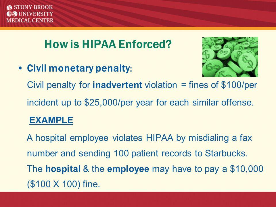 How is HIPAA Enforced.