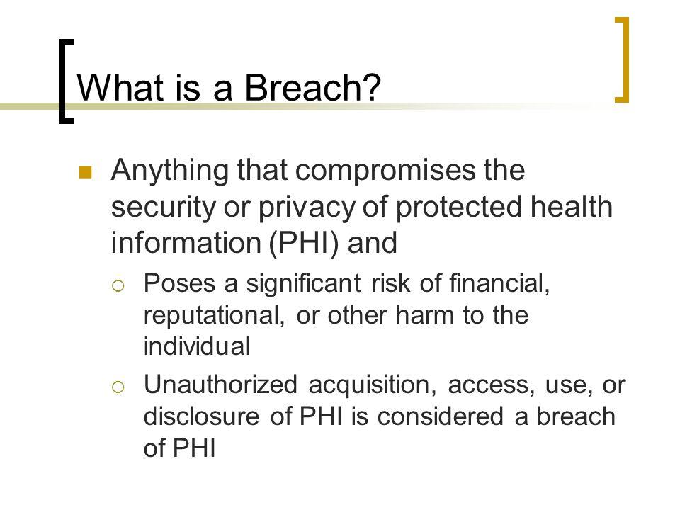 What is a Breach.