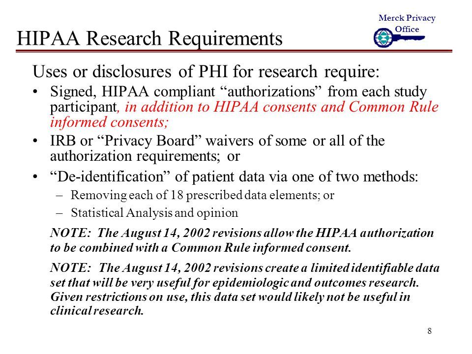 9 HIPAA Research Requirements - Cont.