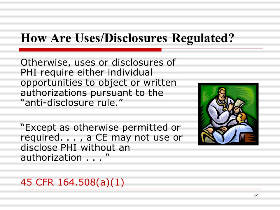 34 How Are Uses/Disclosures Regulated.
