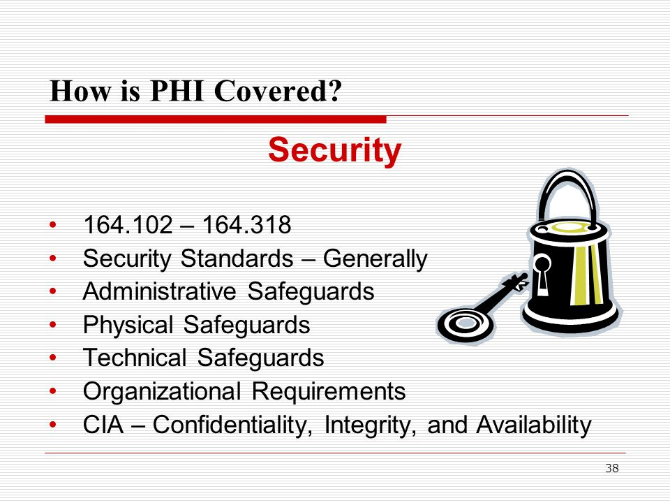 38 How is PHI Covered.