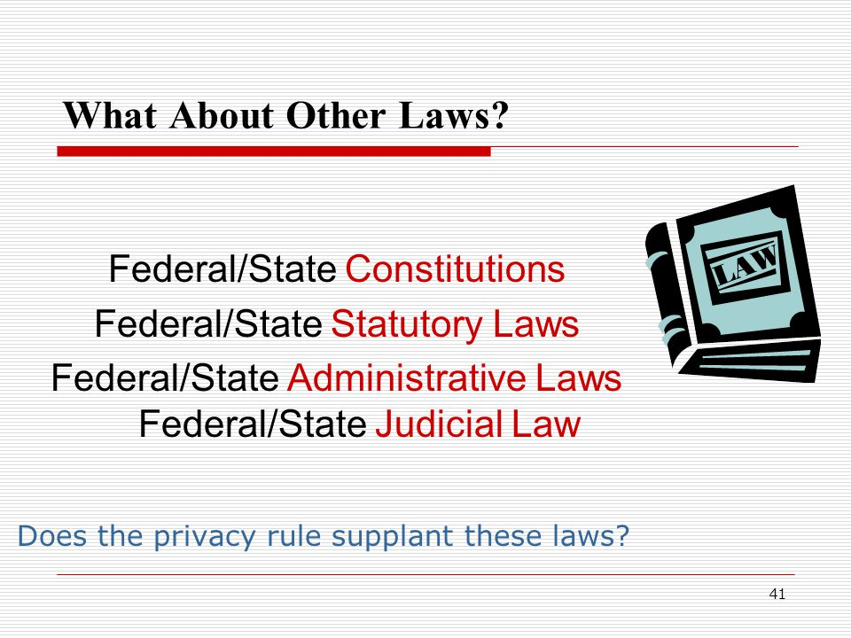41 What About Other Laws.