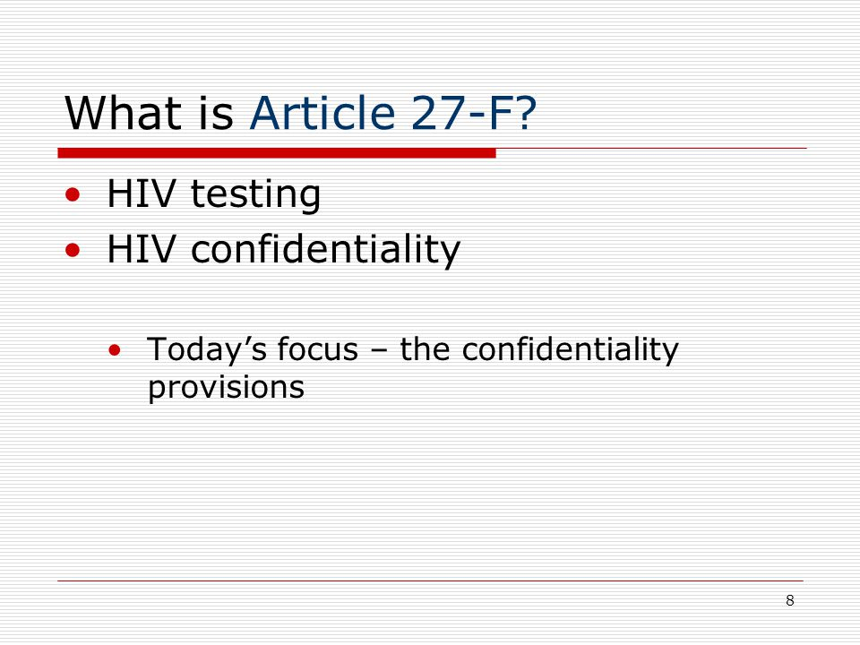 8 What is Article 27-F.