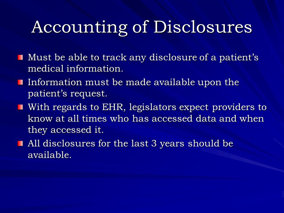 Business Associates Direct responsibility and liability for HIPAA violations Subject to the same civil and criminal penalties It is the responsibility of the business associate to notify the health care provider.