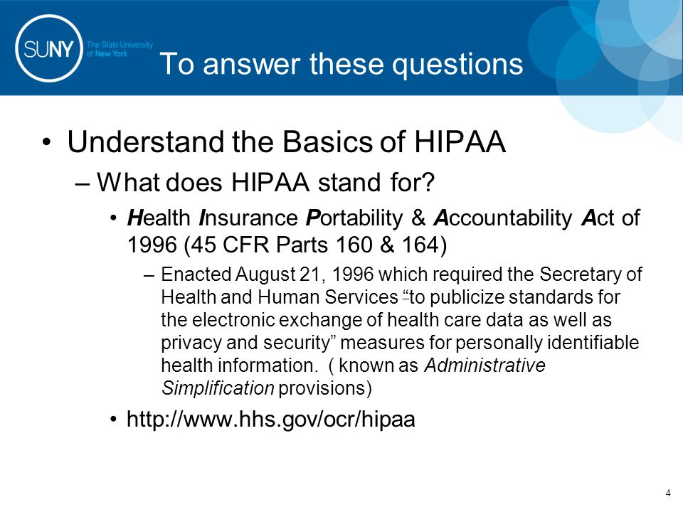 Administrative Simplification 5 ADMINISTRATIVE SIMPLIFICATION (HIPAA Rules) –Title 42 The Public Health and Welfare U.S.
