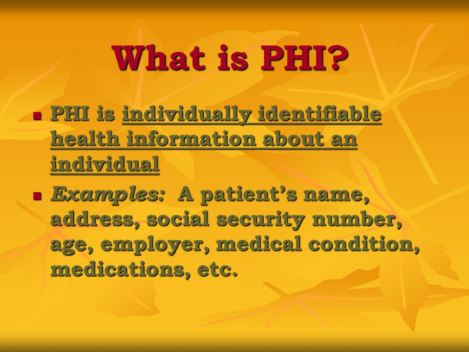 What is ePHI.