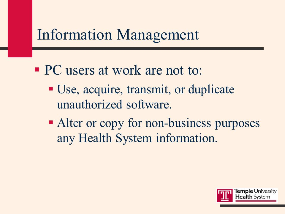 Computer Sign-on Access  PC users at work are not to:  Disclose, share or post sign-on codes  Use sign-on codes to obtain access to unauthorized information  Use someone else's sign-on code