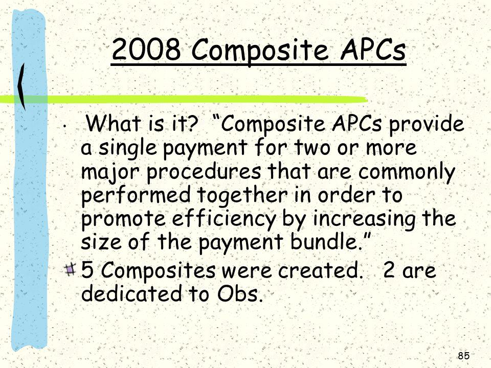 2008 Composite APCs What is it.