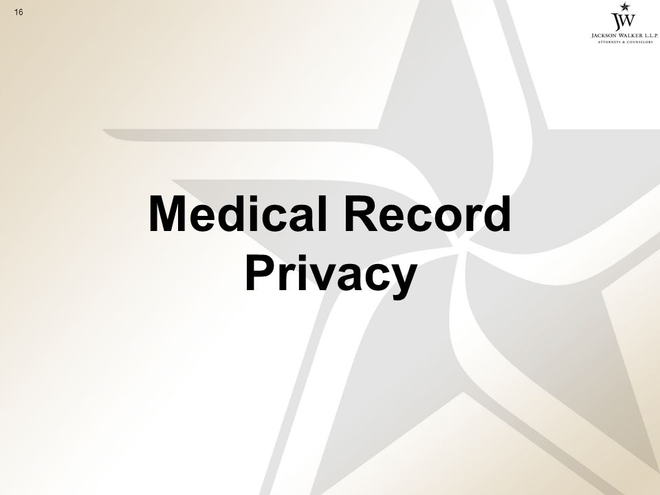 16 Medical Record Privacy
