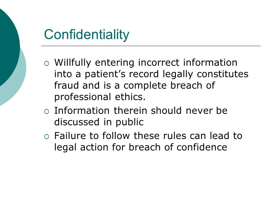 Patient Rights: Confidentiality Telephone- Calls from Family/Friends What can be shared Professional judgment Use Privacy Rule when uncomfortable