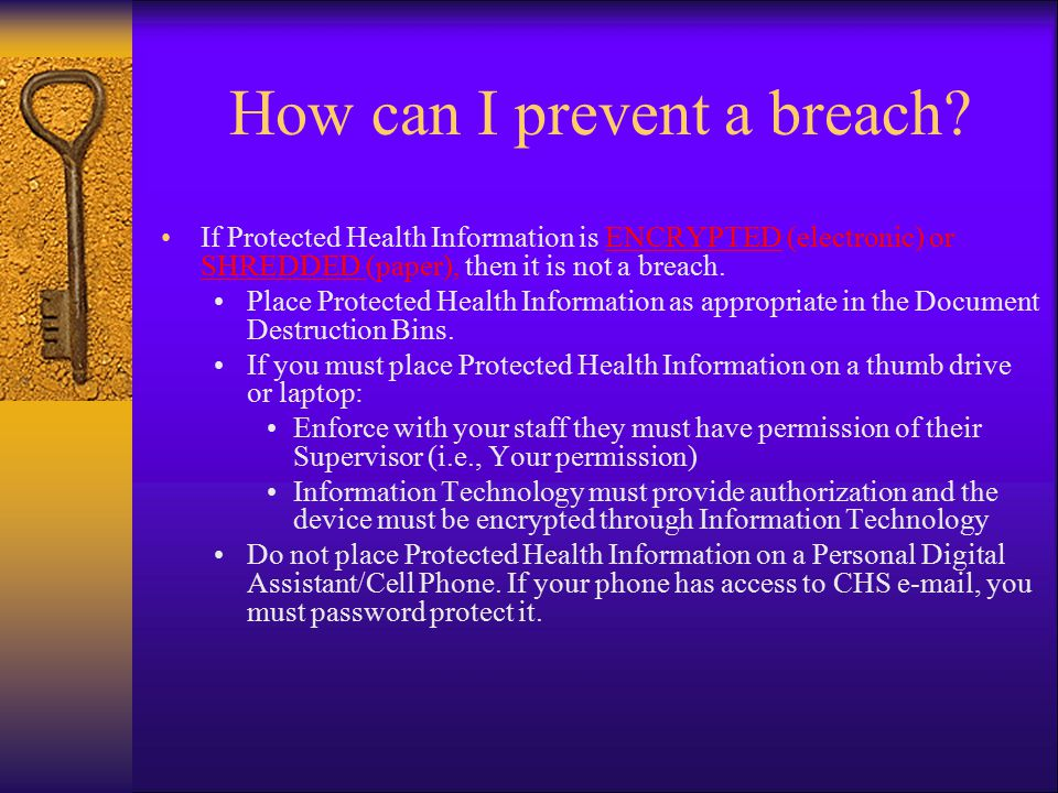How can I prevent a breach.