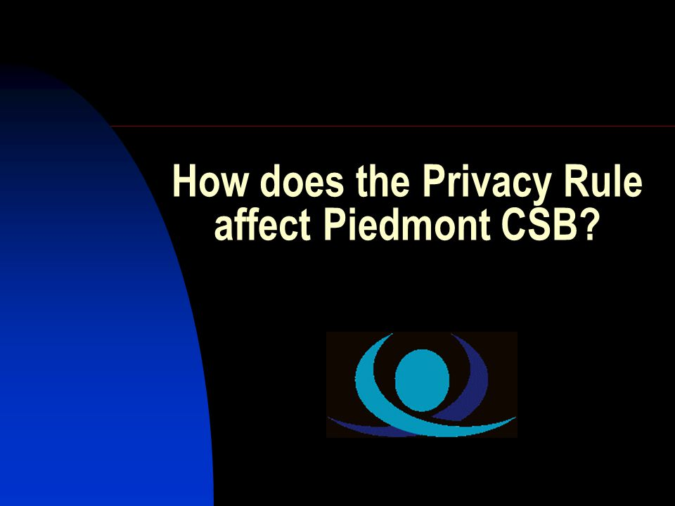 How does the Privacy Rule affect Piedmont CSB?