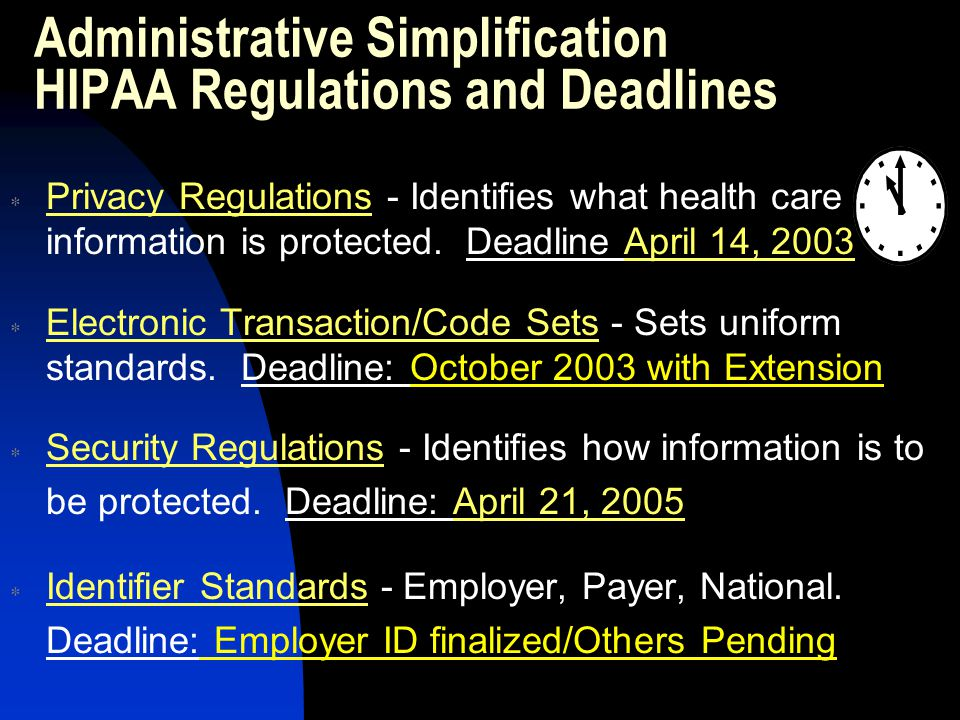 New HIPAA Forms & Policies Privacy Notice Right to Access Policy Request For Amendment Policy Minimum Necessary Policy & Procedure Tele-facsimile Policy Email Policy Business Associates Agreement Authorization to Release Information