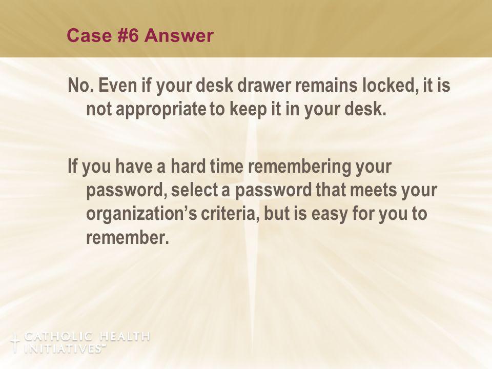 Case #6 Answer No.