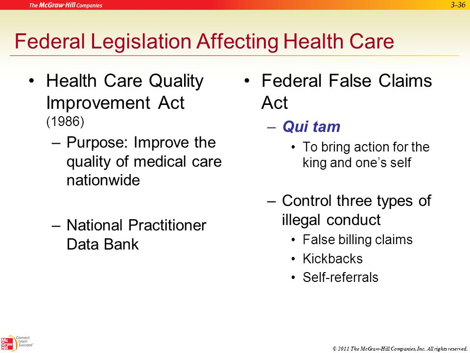 © 2011 The McGraw-Hill Companies, Inc. All rights reserved. 3-35 Confidentiality Issues Legal obligation to maintain confidentiality of patient inform