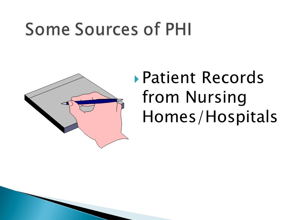  Patient Records from Nursing Homes/Hospitals