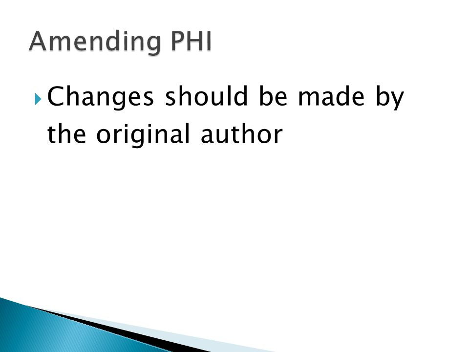  Changes should be made by the original author