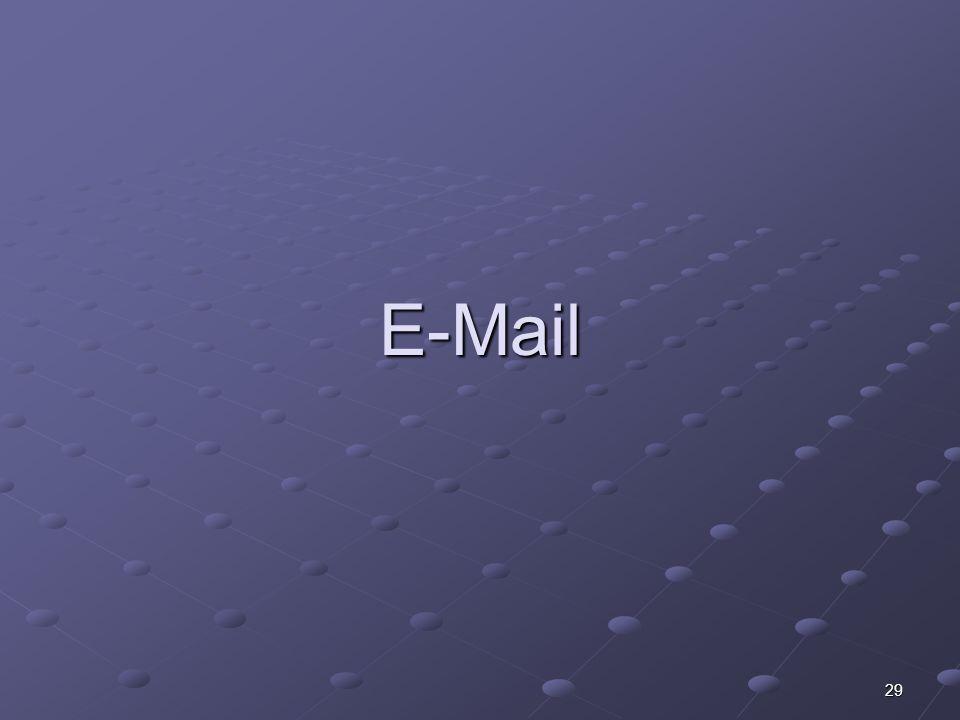 29 E-Mail