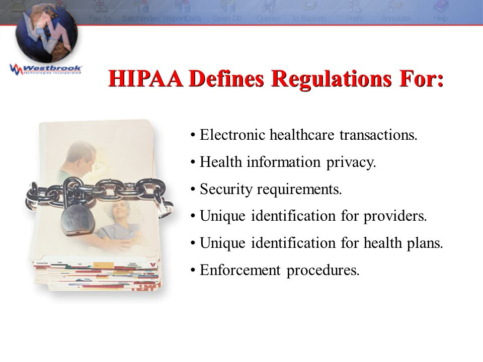 Electronic healthcare transactions. Health information privacy.