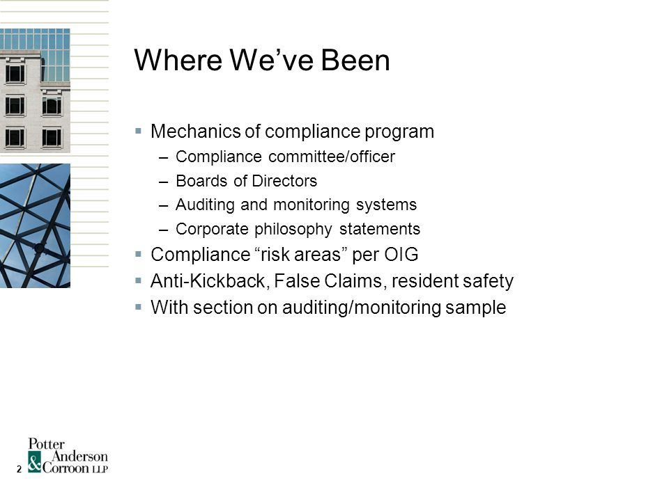 13 Auditing & Monitoring for Reserved Bed Arrangements  Detailed sample in webinar materials  Look at: –Are we doing these agreements.