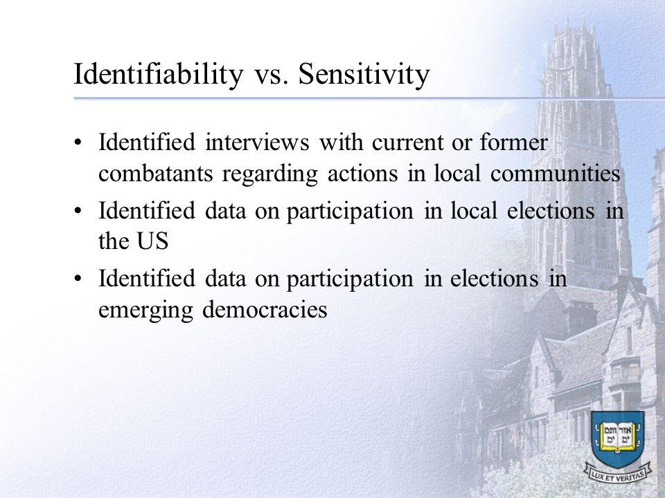 Identifiability vs.