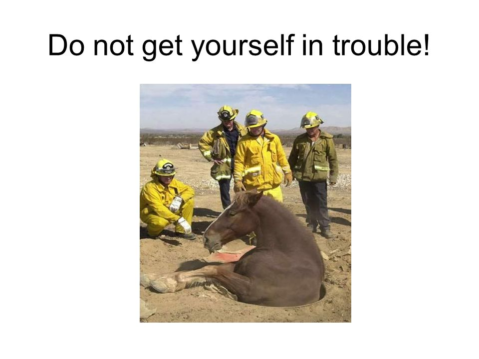 Do not get yourself in trouble!