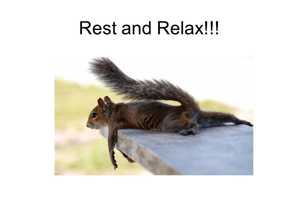 Rest and Relax!!!