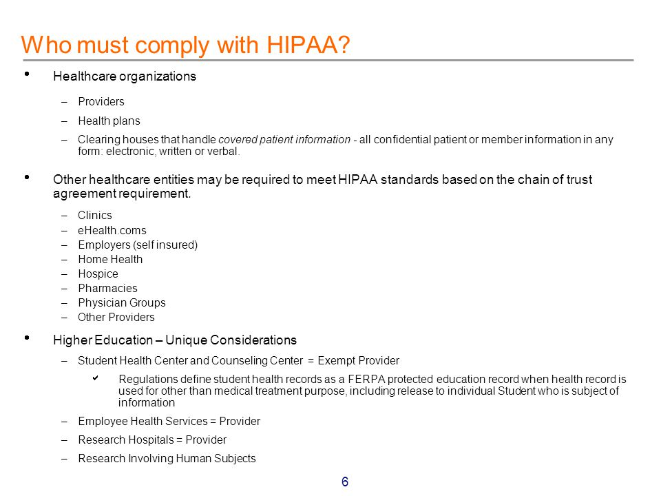 17 Assessment Alternatives – Office of Information and Educational Technology  University Hospital Consortium Contract (UCDMC) – SAIC – Cap Gemini/Ernst and Young  External HIPAA Specialists – Arthur Anderson – Computer Associates – KPMG – PricewaterhouseCoopers  Projected Initiation Date – Spring 2001