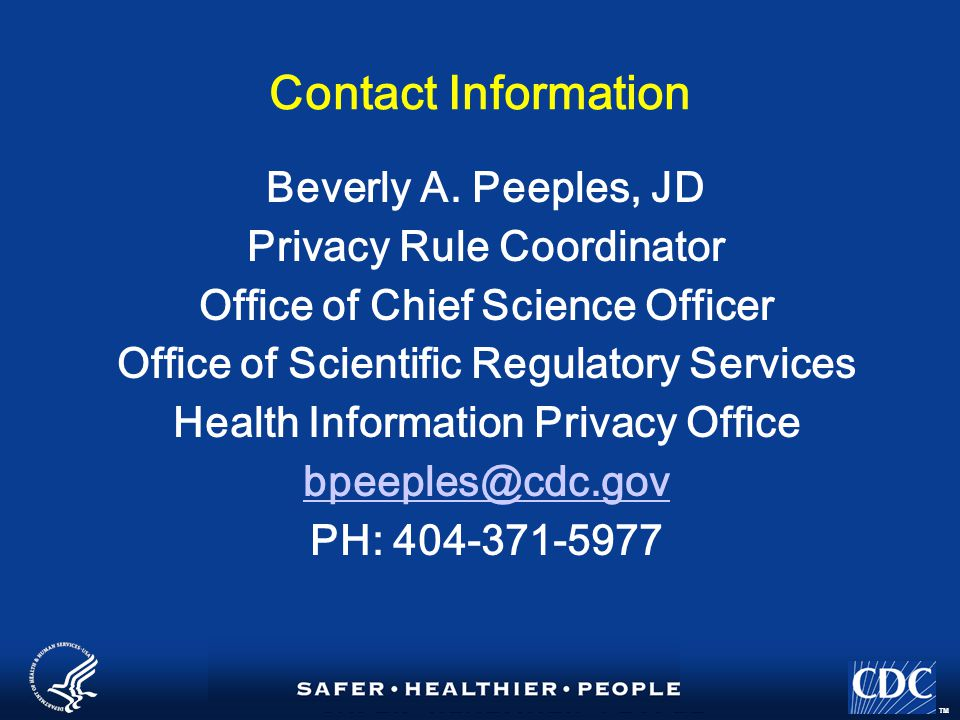 TM Contact Information Beverly A.